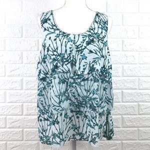 Banana Republic Ruffle Layer Tank Top